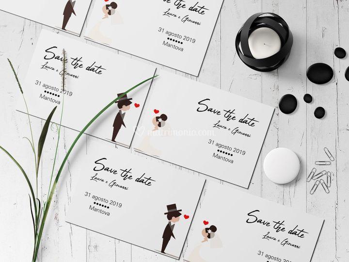 Disegno sposi personalizzato