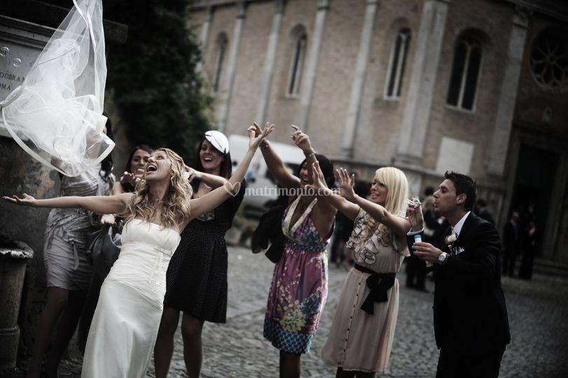 Sposa lancio del velo