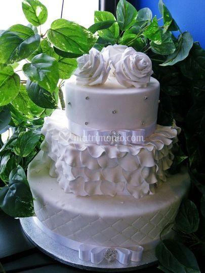 Torta nuziale elegante