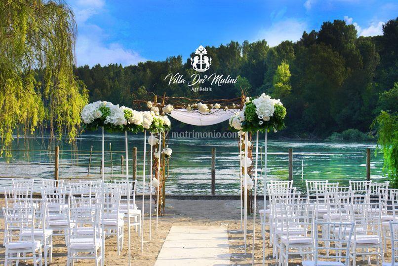 Matrimonio Simbolico In Spiaggia : Agrirelais villa dei mulini