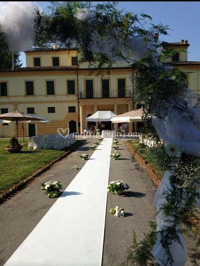 Arco ingresso sposi