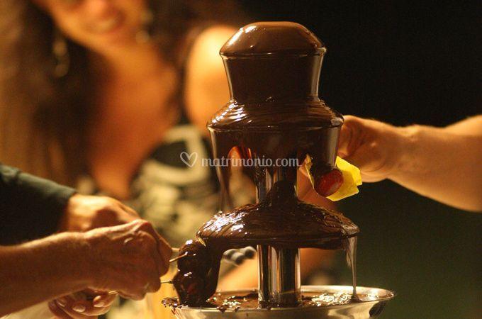La cascata di cioccolata