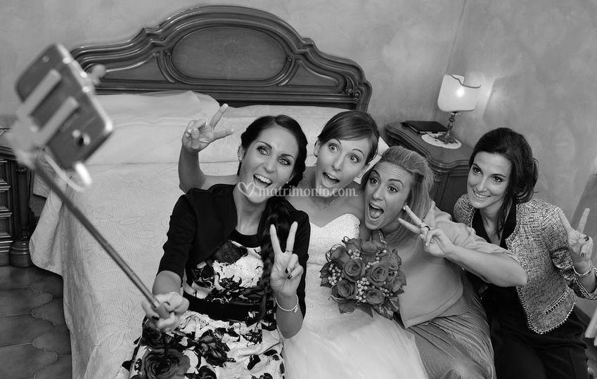 Il selfie della sposa