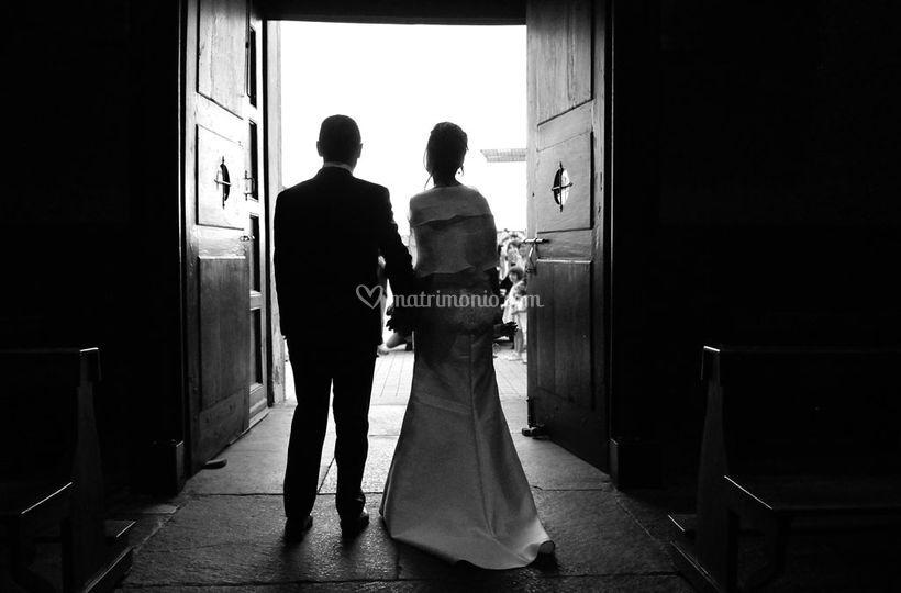 Sposi e uscita dalla chiesa