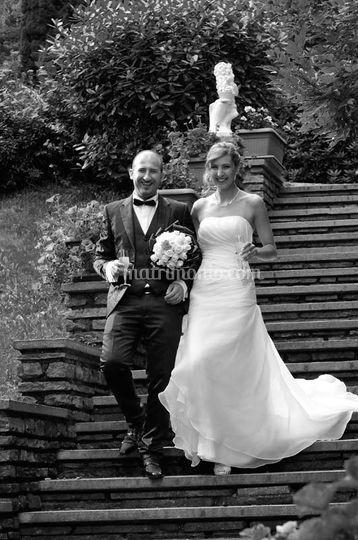Sposi e scalinata