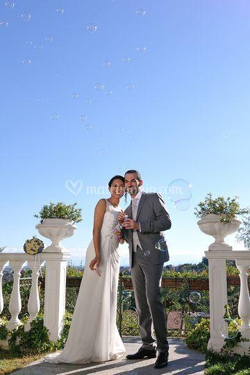 Sposi a Villa Les Reves