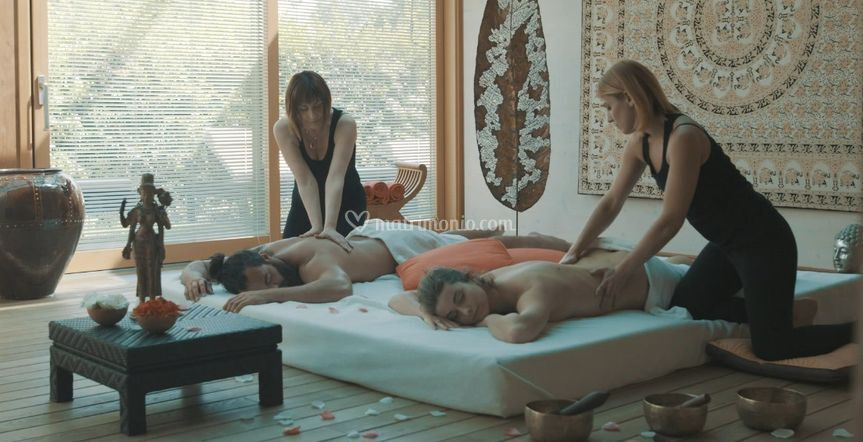 Massaggio sposi in Private SPA