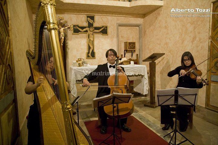 Arpa, Violoncello, Violino