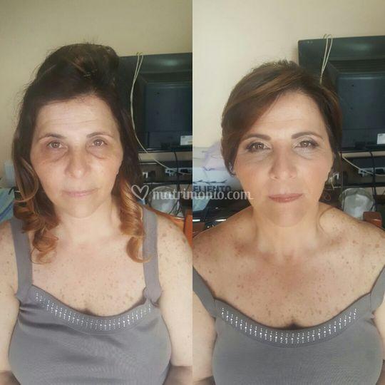 Linda mamma dello sposo. Cecilia Meta make up artist