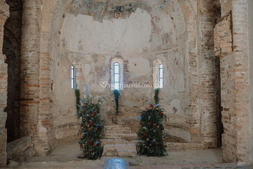 Dettagli floreali abbazia