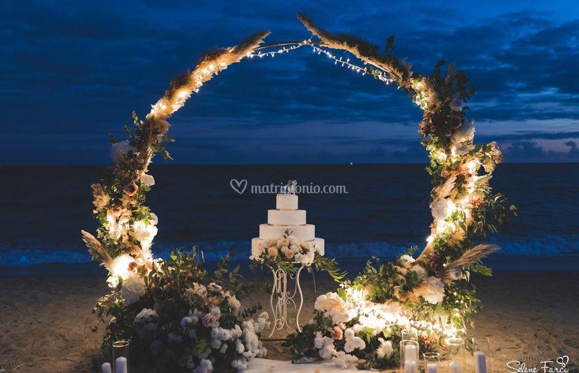 Wedding cake con cerchio