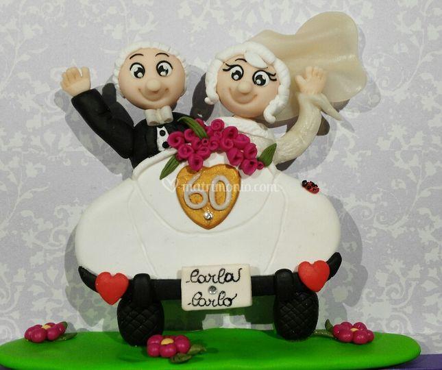 Cake Topper 60°Anniversario