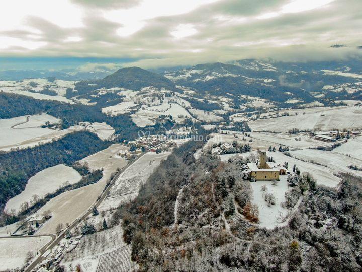 Il Castello tra la neve