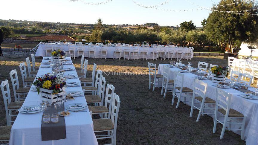 Matrimonio sull'aia