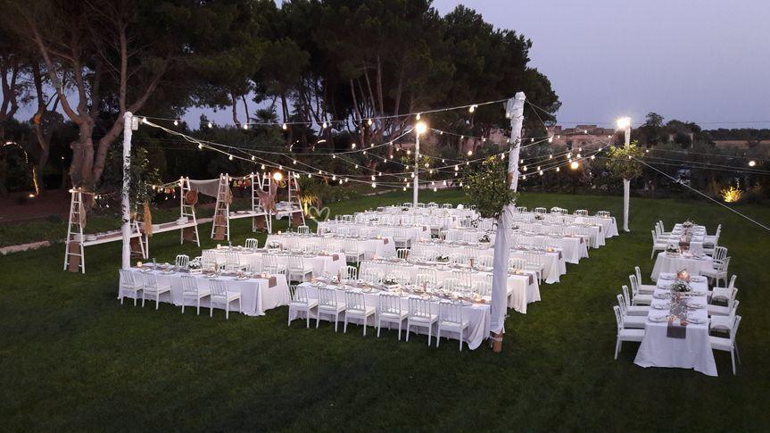 Matrimonio sul prato