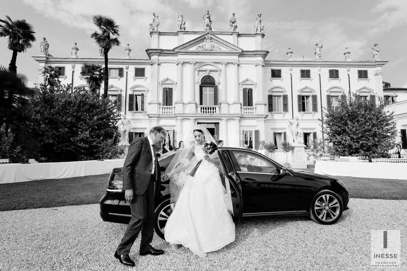 Arrivo della sposa in villa