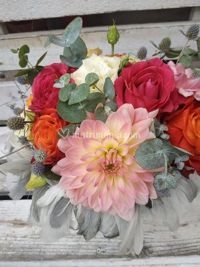 Bouquet con piume