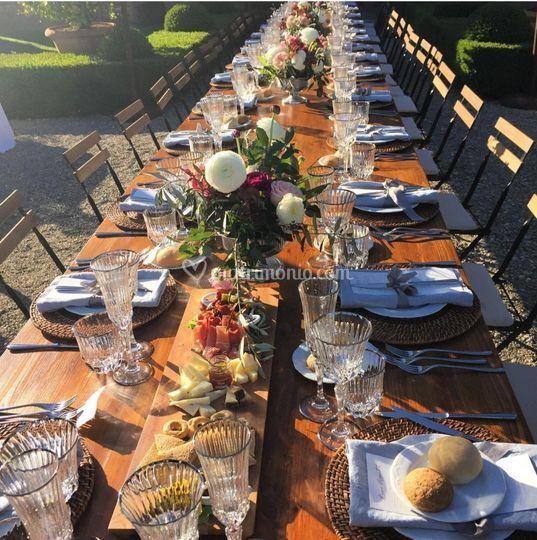 Tuscan dinner Villa Cetinale