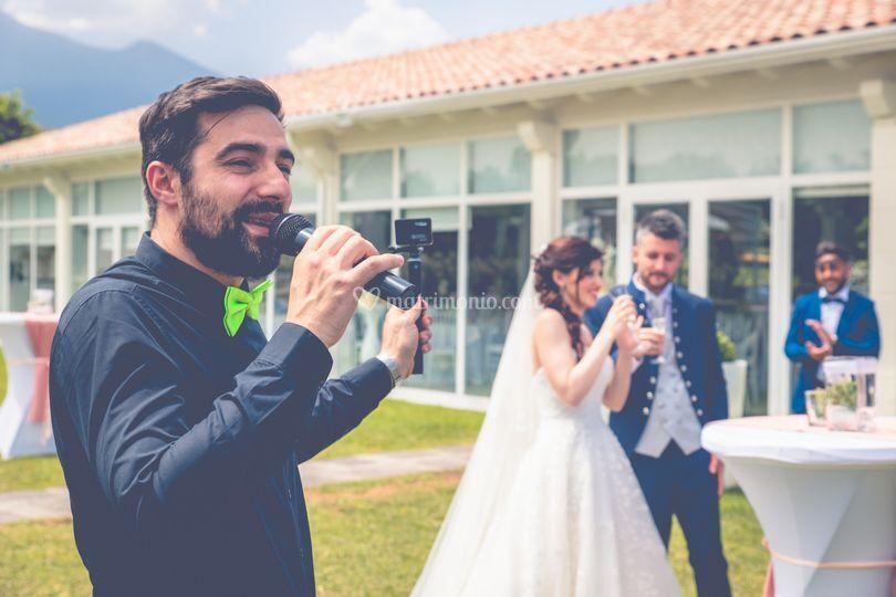 Presentazione arrivo sposi