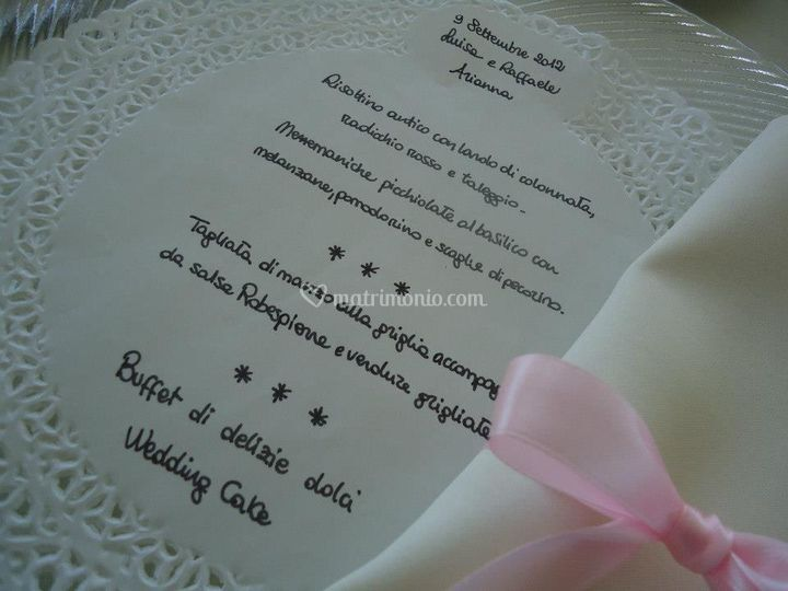 Menù wedding