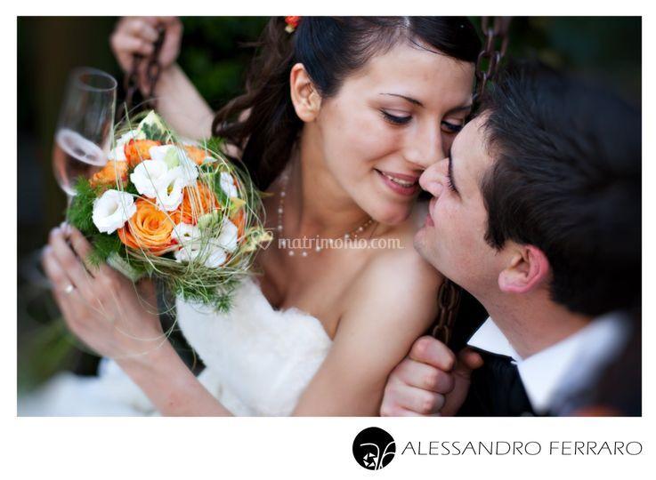 Bacio in villa