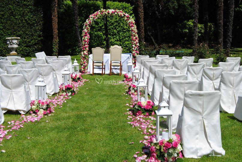 Cerimonia in giardino Villa