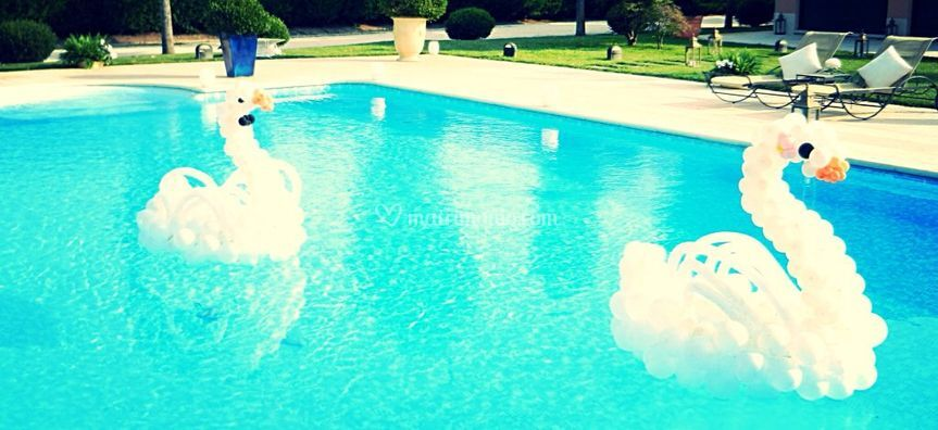 Nozze in piscina
