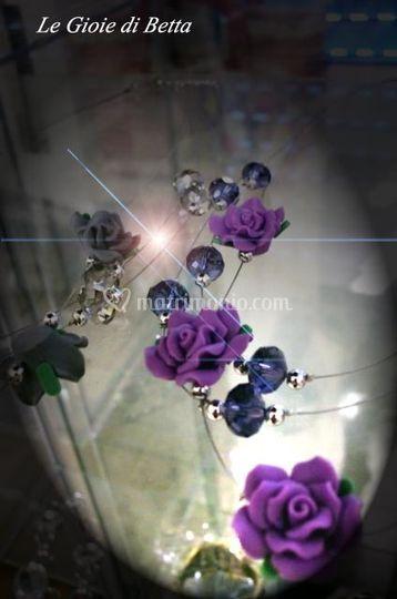 Multifili con elementi in resina e cristalli