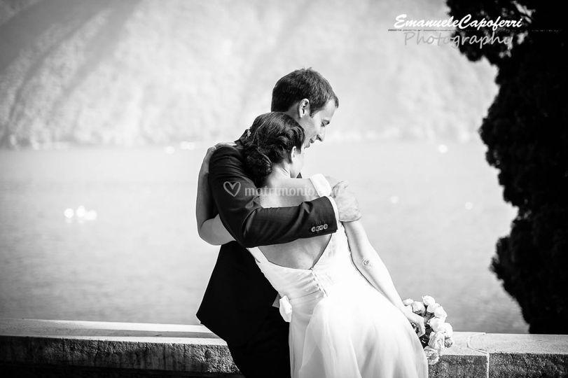 Sposi sul lago di Lugano