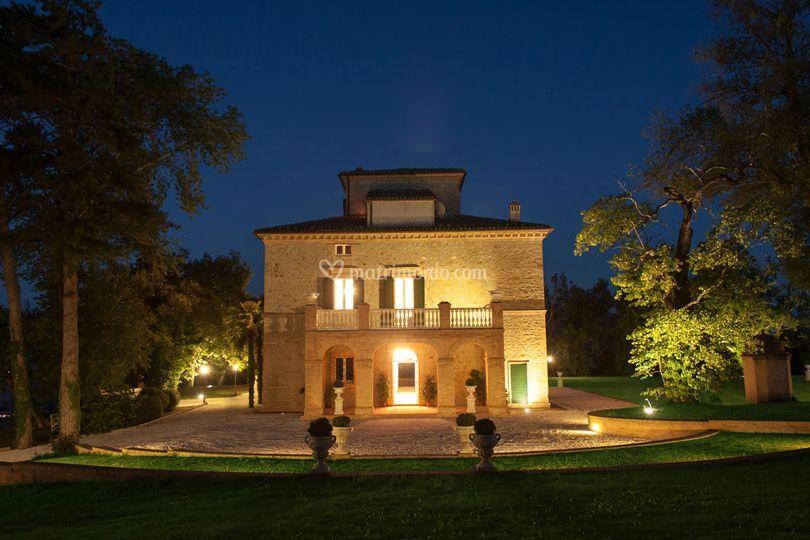 Esterno retro Villa