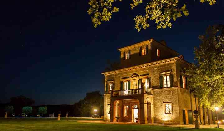 Esterno villa notte
