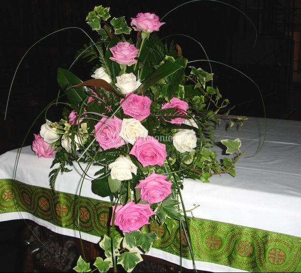 Composizione Rose Aqua