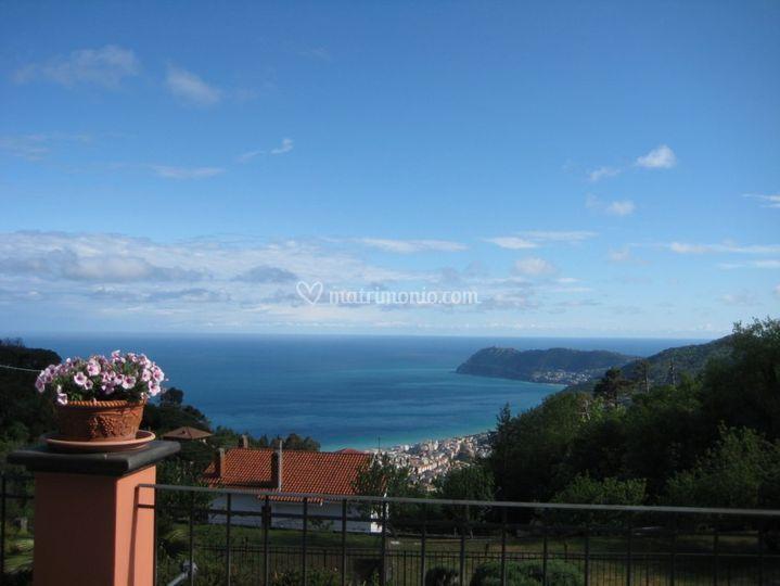 Vista mare di Andora Capo Mele