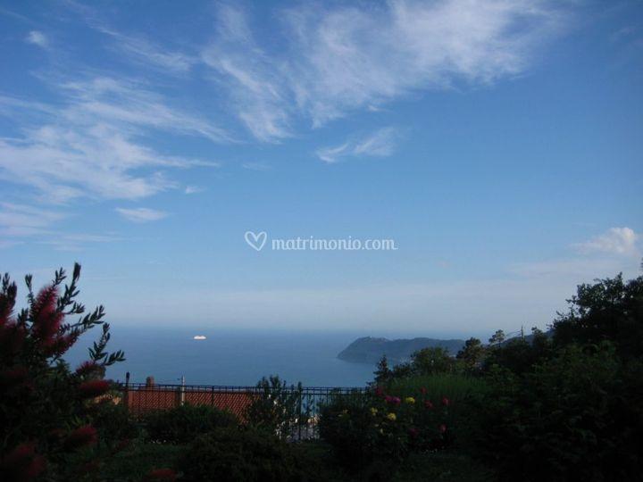 Vista mare di Capo Mele Andora