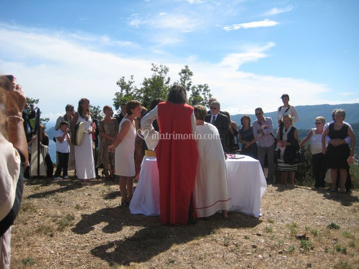 Matrimonio con rito celtico