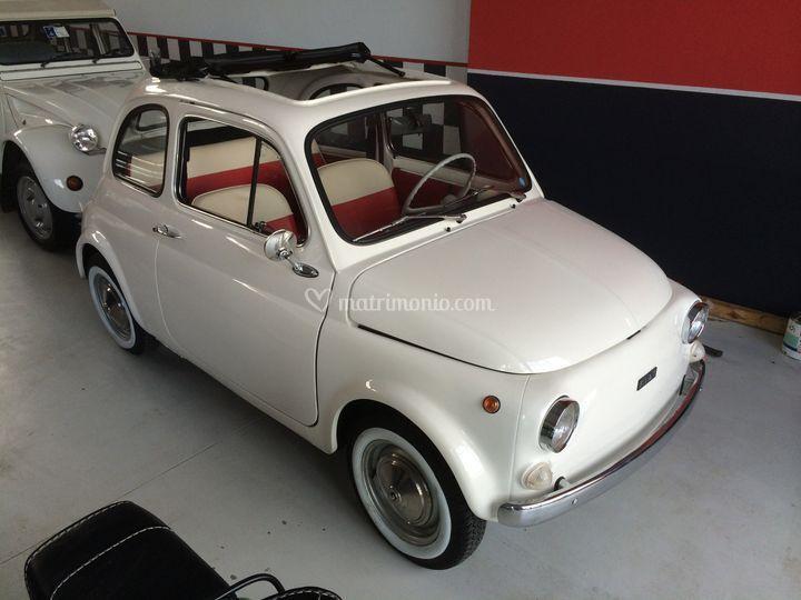 Fiat 500 1971 Bianca