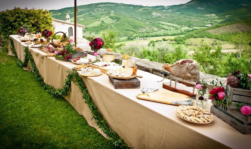 Matrimonio Country Chic Novara : Buffet country chic di villa taticchi foto