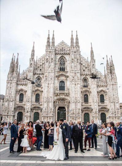 Sposi duomo di Milano