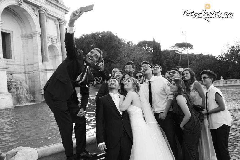 Amici e selfie