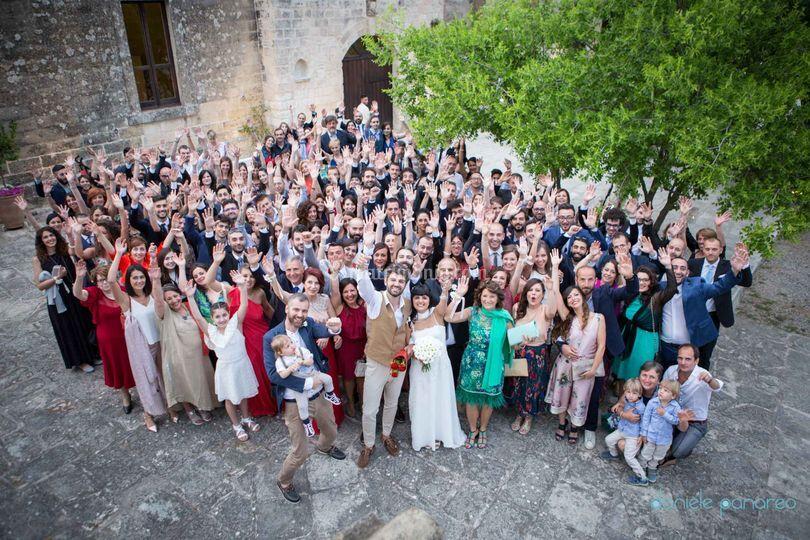 Gli sposi e gli ospiti
