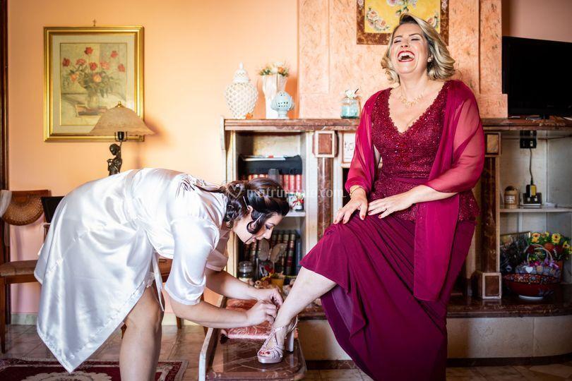 La sposa con la mamma