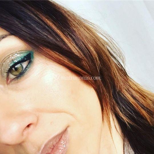 Trucco Glamour con glitter