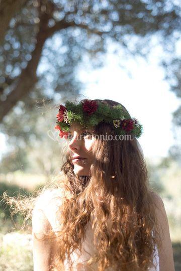 Coroncina floreale sposa