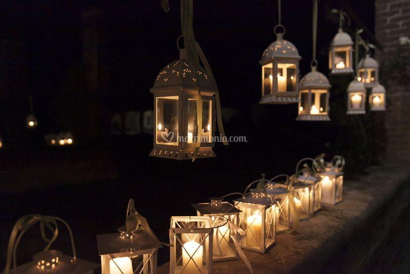 Allestimento con lanterne