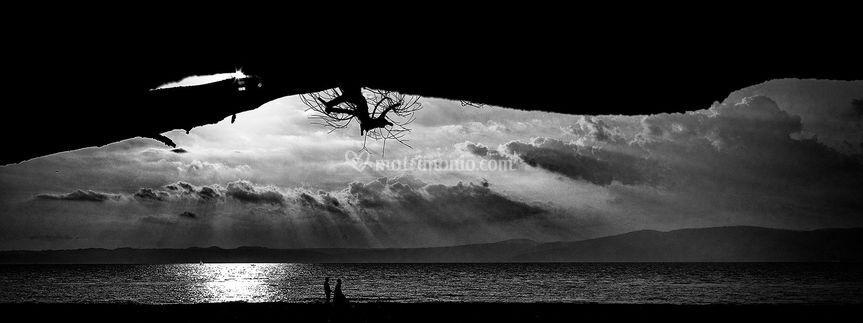 Silhouette a lago