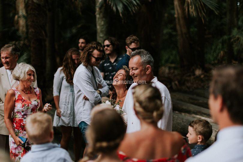 Sposa verso l`altare