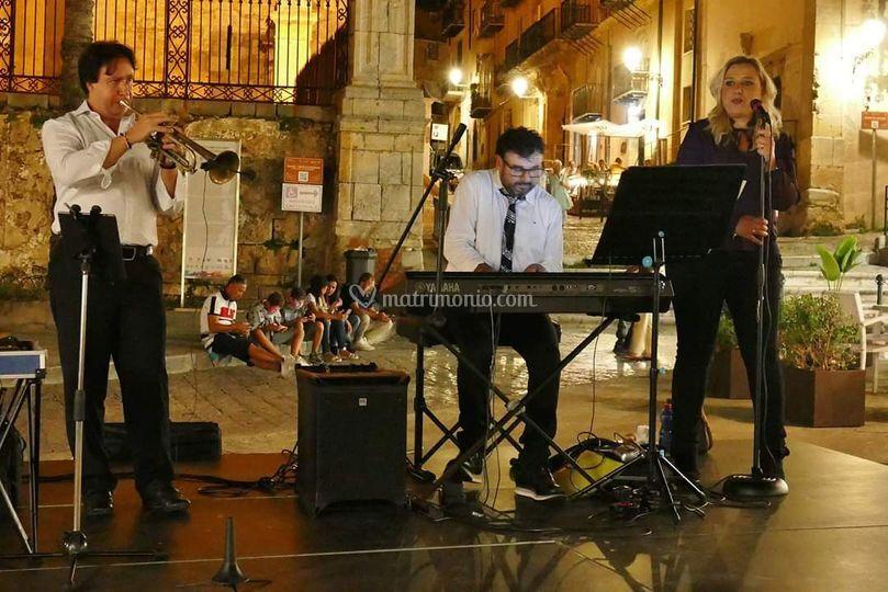 In concerto con trombettista