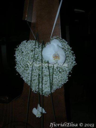 Cuore floreale per  panca
