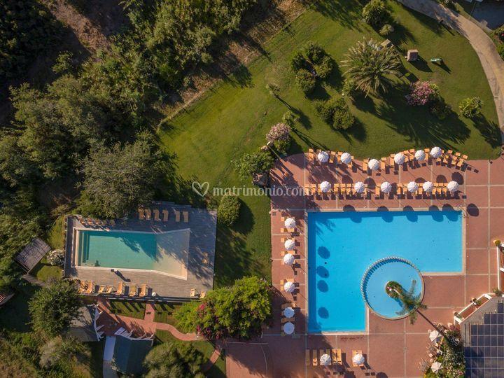Foto aeree delle piscine