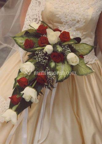 Bouquet cascata rose
